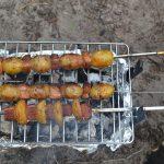 barbecuespiezen met aardappel