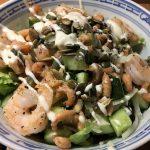 salade met garnalen en koolrabi