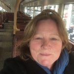 Ik in de bus in Londen rotated