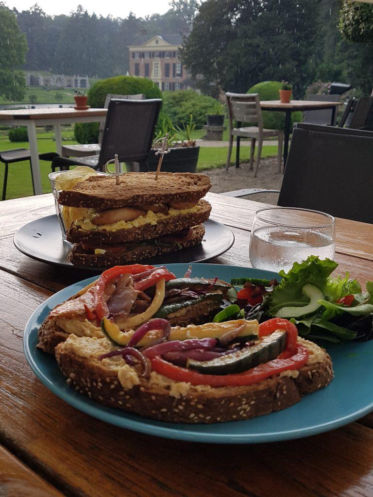 lunch bij Oranje-rie bij Kasteel Rosendael op de Veluwe